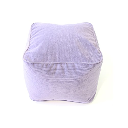 Gold Medal Bean Bags Small Micro-Fiber Suede Corduroy Ottoman, Lilac by Gold Medal Bean Bags