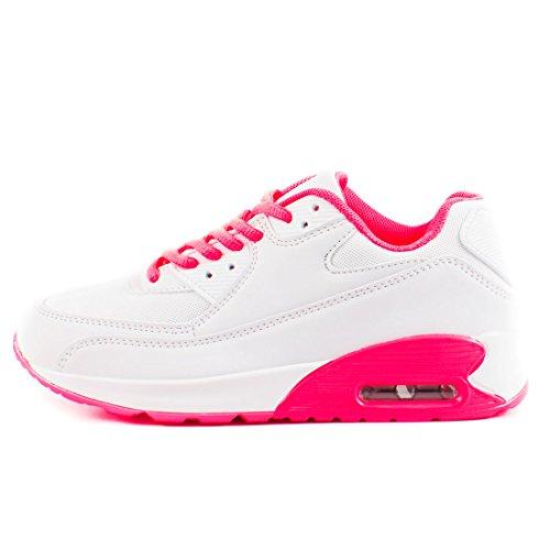 Damen Schnür Turnschuhe Trendige Kinder Marimo Sneaker Sport Laufschuhe Unisex Fitness Coral Herren Weiß TqBZnwUxES