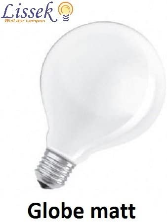 Gl/ühlampe Gl/ühbirne Globe E27 100W 100 Watt opal wei/ß matt 230V G125 D 125 mm