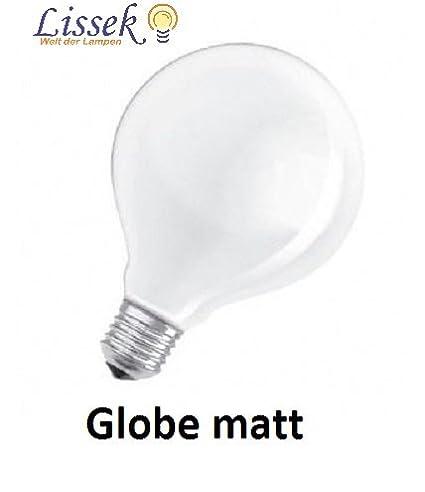 Led Light Bulb Globe Shaped Bulbs 40 W E27 Opal White Satin 230v D
