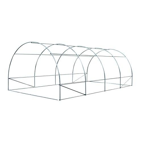 41rCjp1IFbL - Outsunny 20' x 10' x 7' Portable Walk-In Garden Greenhouse - Deep Green