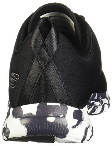 blanc Skechers 12905bkw 2 Last 0 Flex Basket Appeal Word Noir ZZrqzTA
