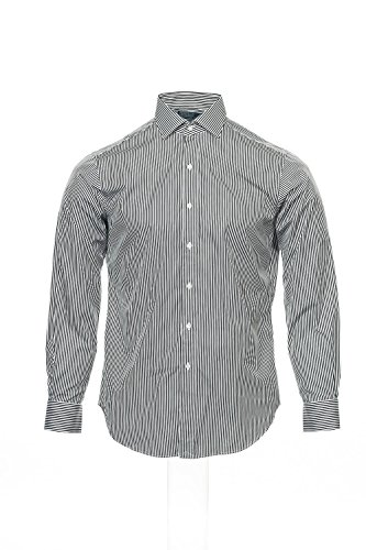 Ralph Lauren Polo Black Striped Dress Shirt Button Down, Size 16-34_35