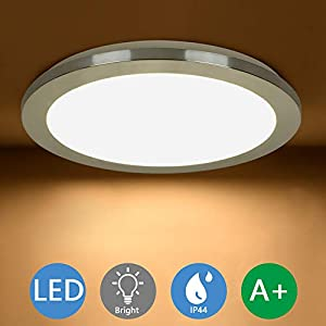 PADMA Bathroom Light Ceiling 18W Flush Round LED Ceiling Lighting for Bedroom IP44 Waterproof Kitchen Lights with Chrome…