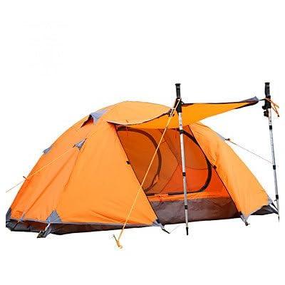 Tente- (Bleu / Orange,1 personne)Etanche / Respirabilité / Résistant à la poussière / Résistant au vent / Bonne ventilation / Garder au , orange