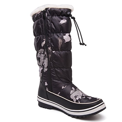 Global Win GLOBALWIN GLOBALWINs Womens Adeline Winter Snow Boots 1713 Black Camouflage hbEVxcryx