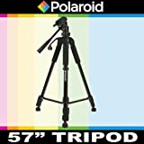 Polaroid 145 cm Photo / Video Tripod Includes Deluxe Tripod Carrying Case For The Panasonic HC-X920, V720, V520, V201, V110, V700, V700M, V500M, X900K, X900M, V700, V500, V100, V100M, V10 Camcorder