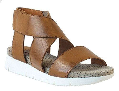 Bos. & Co. Vrouwen Piper Gladiator Sandaal Cuoio Whiskey / Beige Velours Nappaleder