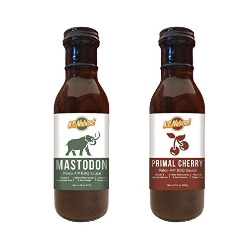 (KC Natural - Paleo AIP Barbecue Sauce 14 oz, Combo Pack (Mastodon and Primal Cherry) )