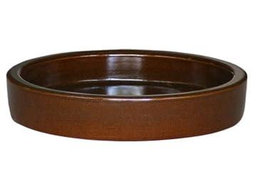 Steinzeug Futtertrog Futternapf aus Ton 0,5 Liter