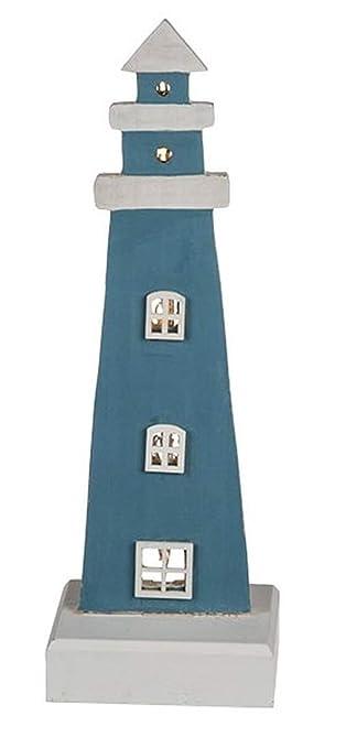 CBK-MS. Leuchtturm blau/Weiss mit LED Beleuchtung 6 LEDs ...