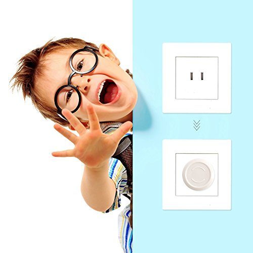 Outlet Plug Covers- Racol 30 Pack Clear Child Proof Electrical Protector Safety Caps with 6 Pack Safety Corner Guards | Corner Covers Baby Safety | Table & Furniture Corner Protectors Corner by Racol (Image #5)