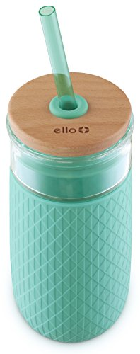 Ello Devon 20OZ Glass Tumbler Straw, Mint, 20 oz. by Ello (Image #2)