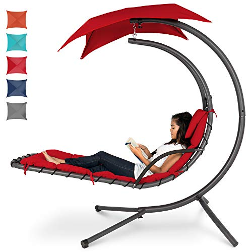 Best Choice Products Hanging Curved Chaise Lounge Chair ...