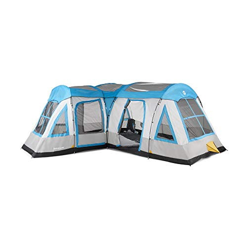 Tahoe Gear Gateway 10 to 12 Person Deluxe Cabin Family Camping Tent, Blue