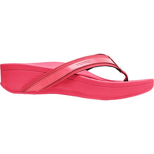 Vionic Womens Pacific Hightide Toepost Platform Sandal Pink Size (Pacific Heights Leather)