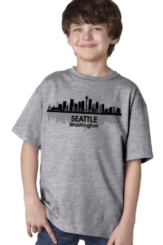 SEATTLE CITY SKYLINE Youth T-shirt / Space Needle, 206, Pike Place Tee