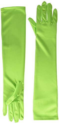 Long Nylon Gloves (Green) Adult Accessory by Forum ()