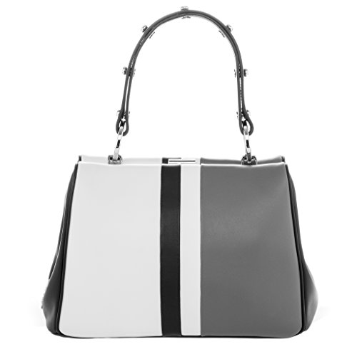 Prada-Womens-Frame-Single-Handle-Bag-White-Black