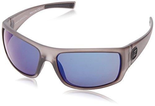 (VonZipper Suplex Polarized Rectangular Sunglasses,Charcoal Satin,62.4 mm)