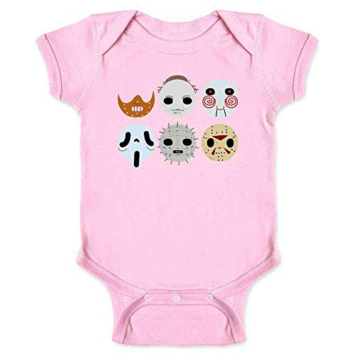 Horror Masks Halloween Costume Monster Pink 6M Infant Bodysuit