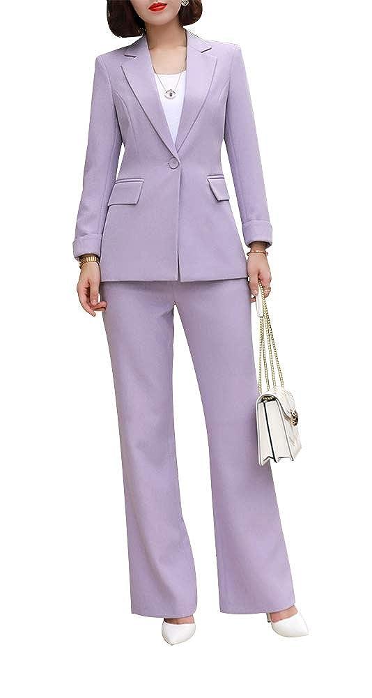 Women Elegant Two Piece Blazer Suit Slim Fit Pant Suit Office Lady Blazer Set LISUEYNE SSXZ9317
