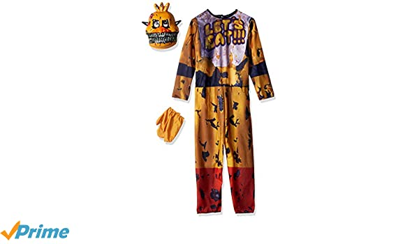 Five Nights At Freddys Nightmare Chica Costume Child Medium: Amazon.es: Juguetes y juegos