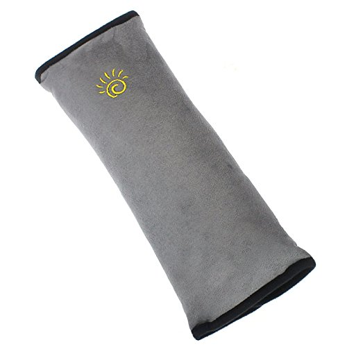 Car Accessories Seatbelt Pillow,NOMENI Safety Belt Protector Cushion,Car Seat Belt Covers for Kids,Adjust Vehicle Shoulder Pads (Gray)