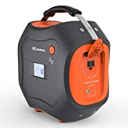 CPAP Battery Backup Powerpro 500, CPAP Portable Power Station Jackery 500Wh Portable Generator Lithium Battery Pack with 110V/300W (500W Peak) Pure Sine Wave AC Inverter Outlet for CPAP Emergency