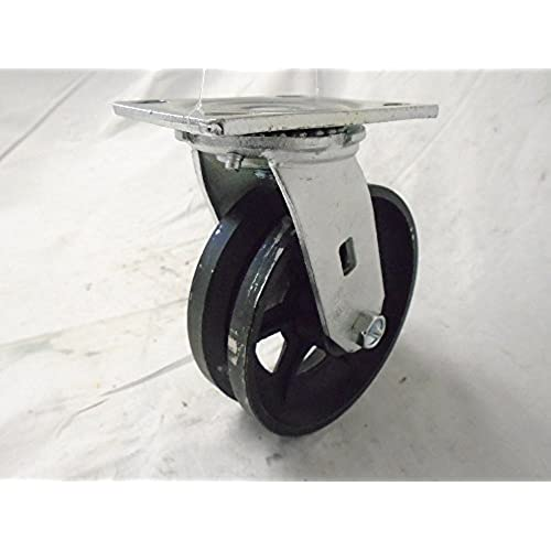 Low Cost 6 Quot X 2 Quot Swivel Caster 7 8 Quot V Groove Iron Steel