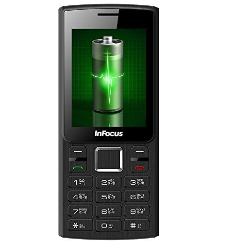Infocus Hero Power B1 F229-3T, Black/Grey Dual Tone Mobile Phone (3000 mAh  Battery, 2 4 Inch Screen)
