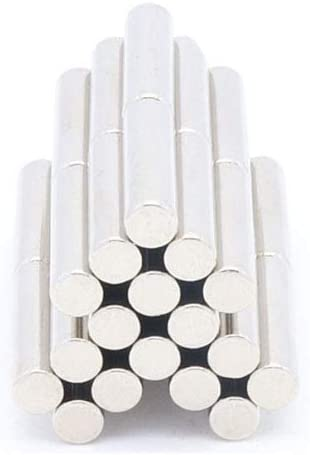 wrdxc 10pcs Aimant Tige cylindrique 5 mm x 20 mm de Long 5 mm x 20 mm Aimant en Terres rares N35 Aimant Puissant Aimant n/éodyme et Bore
