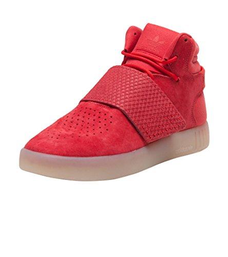 meet 4ec56 3651b Adidas TUBULAR INVADER STRAP J Boys fashion-sneakers BA9371_7 -  RED,RED,VINWHT