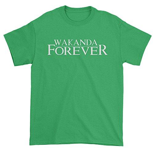Mens Wakanda Forever T-Shirt Medium Kelly - Forever Green T-shirt