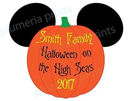 HANDMADE Disney Inspired Large Halloween Pumpkin Mouse Head Family Magnet for Disney Cruise -
