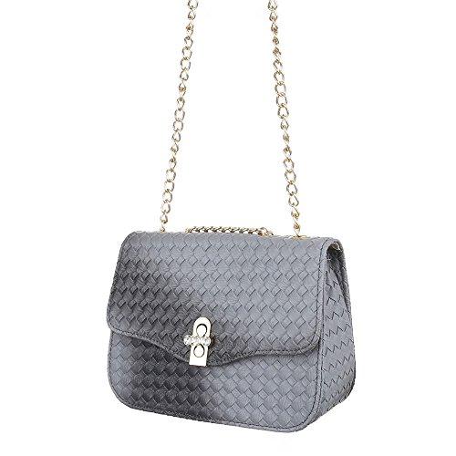 Ital-Design - Bolso al hombro de Material Sintético para mujer gris