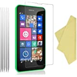 teKKno® **PACK OF 5** Nokia LUMIA 630/ 635 LCD Screen Protectors Guards And Cleaning Cloths (Clear)