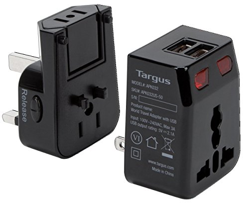 Targus World Travel Power Adapter with Dual USB Charging Ports for Laptops, Phones, Tablets, or Other Mobile Devices (APK032US) by Targus (Image #3)