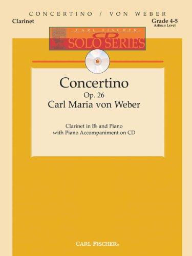 (Carl Fischer Weber-Concertino, Op. 26, Opus 26-Clarinet,)