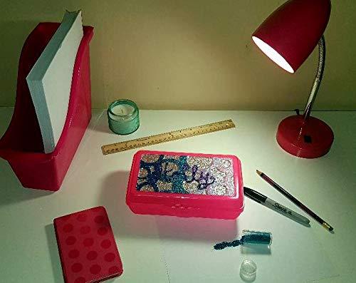 (Glitter Pencil Box-groovy dots addition)