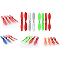 Hubsan X4 Plus H107P [QTY: 1] Red Clear Propeller Blades Props Propellers Transparent [QTY: 1] Rotor Set 55mm Factory Units [QTY: 1] Blue and [QTY: 1] Green [QTY: 1] Orange [QTY: 1]