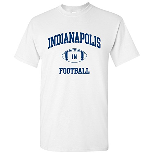 Indianapolis Classic Football Arch Basic Cotton T-Shirt - Large - White