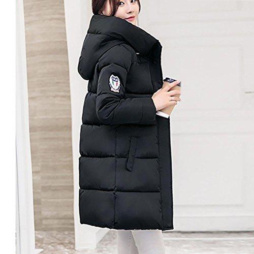 Manteau Les Femmes Zycshang Plus Solides D'hiver Veste Un Lammy Maigrir Imperméable Noir zCwd14wq