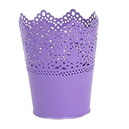 Metall Schneiden Pflanze Vase Topf Stift Make-up B/ürstenhalter Schreibtisch Ordentlich Organizer Veranstalter Aufbewahrungskorb