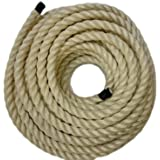 RopeServices UK 50Mts X 24Mm Natural Sisal Rope (Decking,Gardens) Landscape Gardeners by RopeServices UK