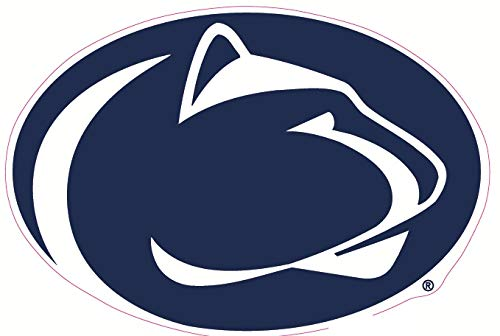 9 Inch Penn State Logo Decal Nittany Lions Pennsylvania University PSU Removable Repositionable Peel Self Stick Wall Sticker Art NCAA Home Room Decor 8 1/2 by 6 inches