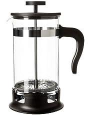 آلة تحضير القهوة من الزجاج والستانلس ستيل سعة واحد لتر