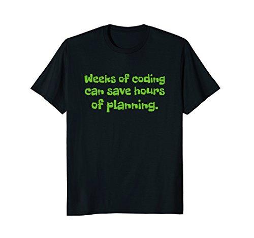 Mens Funny coding software development computer tshirt Medium Black