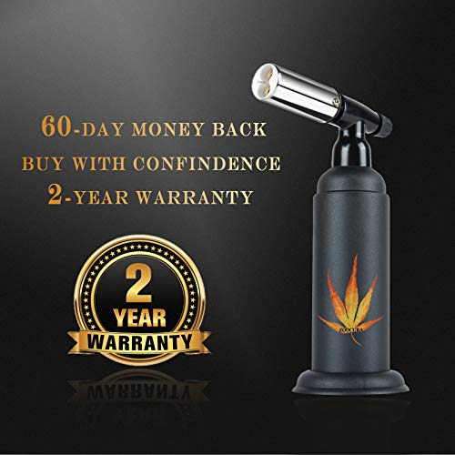 Big Butane Torch, Zoocura Refillable Industrial Butane Torch Adjustable Double Flames Blow Torch with Child Safety Lock Multipurpose for Soldering Baking Welding DIY Crafts ( Butane Gas Not Included )