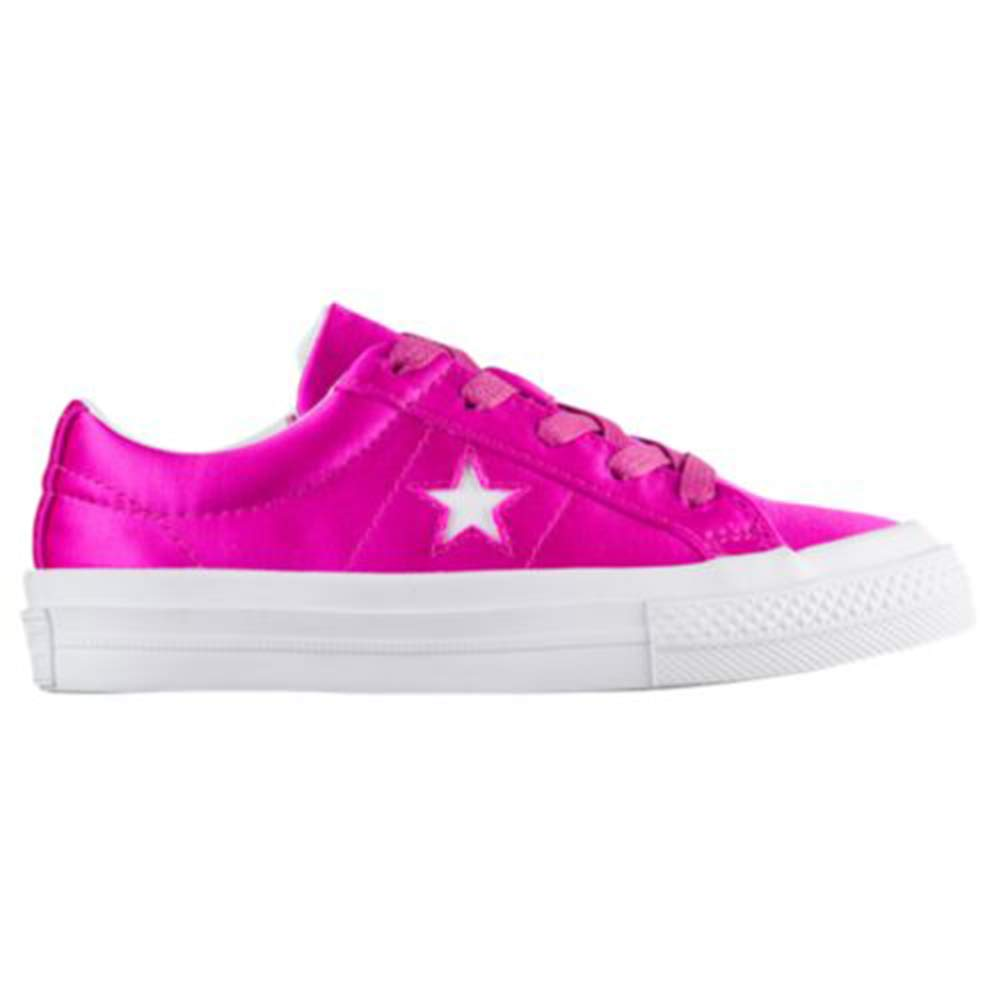 Converse One Star Ox Fashion Sneakers Hyper Magenta//White//White Size 13.5 Little Kid